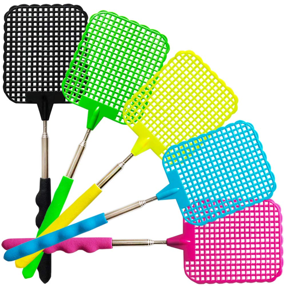 W4W Bug /& Fly Swatters Indoor//Outdoor Extra Long Handle Multi Packs