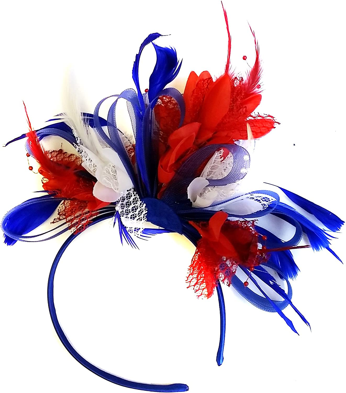 Pretty Red Headband Clip Hat Fascinator Weddings LadiesDay Race Royal Ascot
