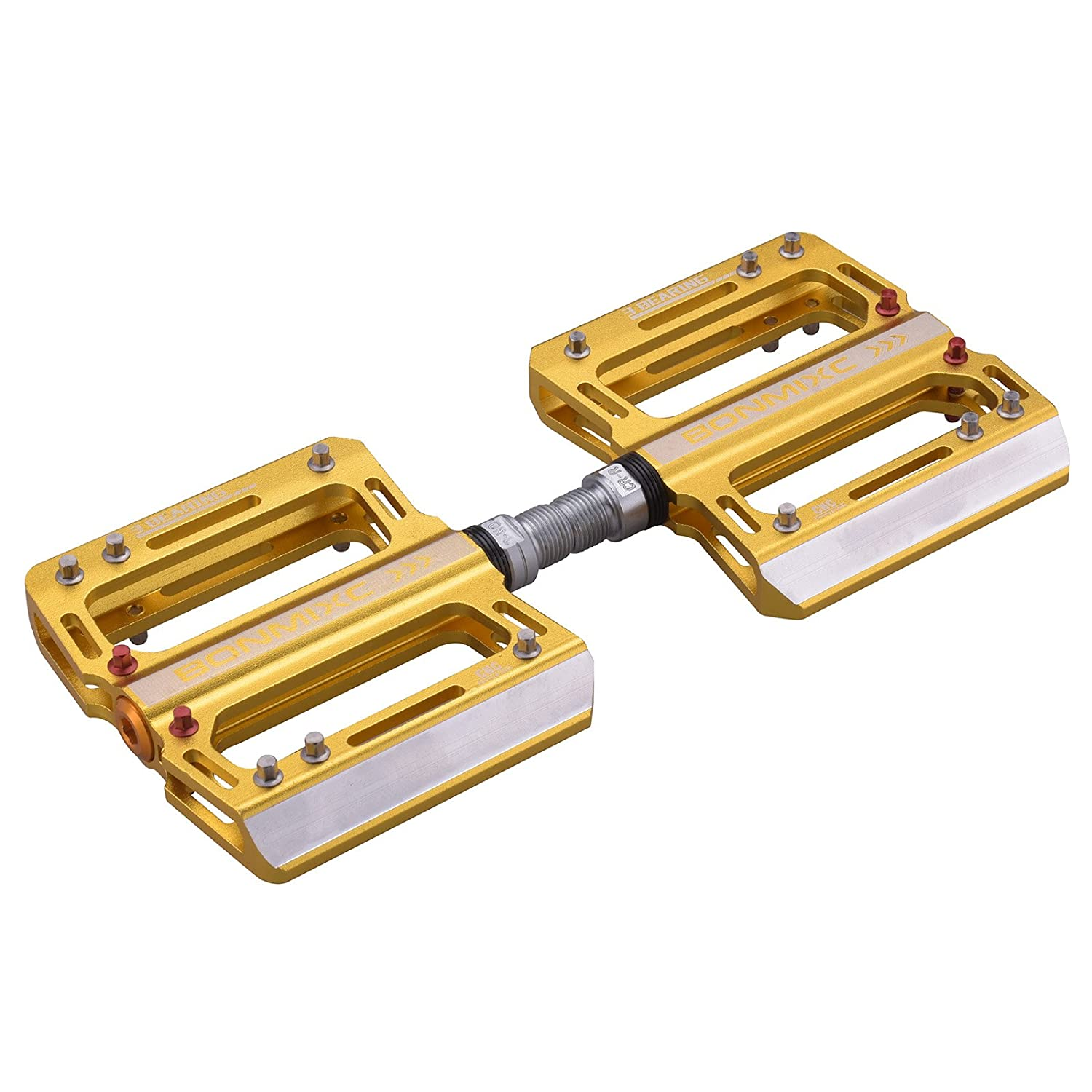BONMIXC Mountain Bike Pedals, 9 16 Cycling Three Pcs Sealed Bearing Bicycle Pedals