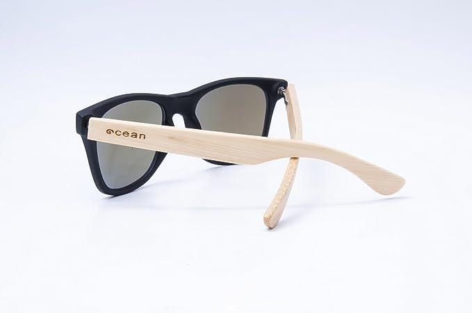 Ocean Sunglasses beach wood - lunettes de soleil en Bambou - Monture : Bambou - Verres : Revo Bleu (50001.1) SI2rX8rVQ