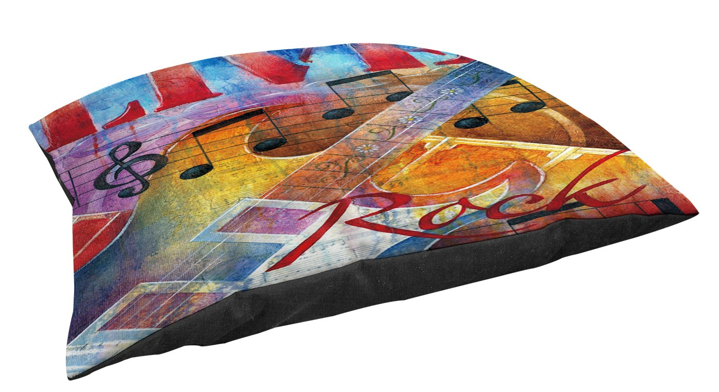 Manual Woodworkers & Weavers Indoor/Outdoor Small Breed Pet Bed, Live to Rock, Multi Colored