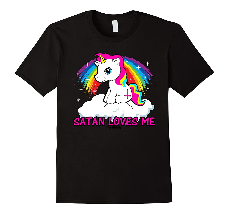 4b7eda28 Satan Loves Me Shirt Funny Satanic Shirts Offensive Tshirts-TH ...