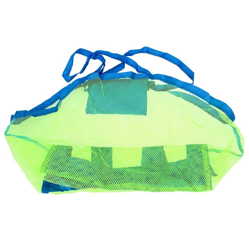 fitTek® FACILA Organizador Bolsa de Almacenamiento Color Verde Azul para Playa Niños