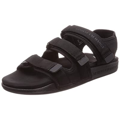 A|X Armani Exchange Men's Multi Strap Open Toed Sandal: Shoes