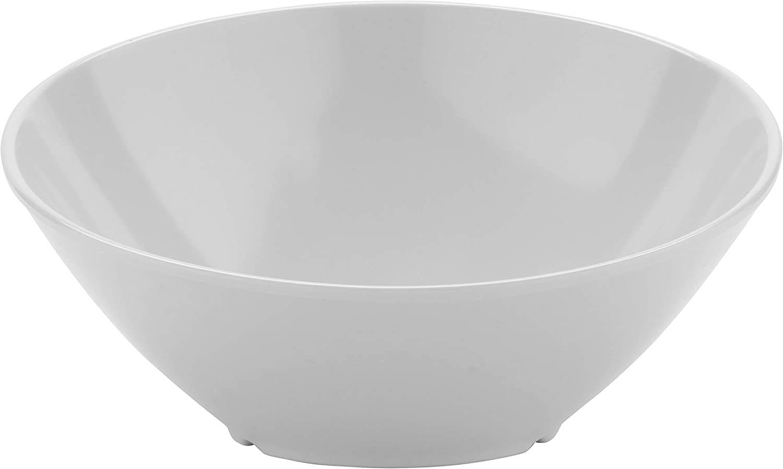 GET B-788-W Angled/Cascading Bowl, 16 Ounce, White