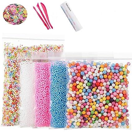 Amazon Com Foam Beads For Diy Slime Craft Styrofoam Balls 0 1
