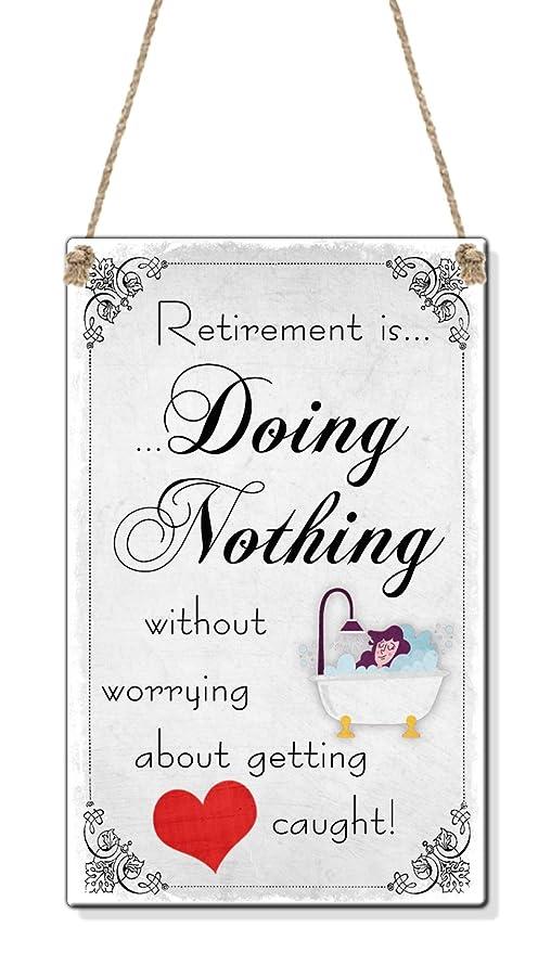 ES No Hacer Nada Funny Mujer de jubilación Mum (Tamaño de ...