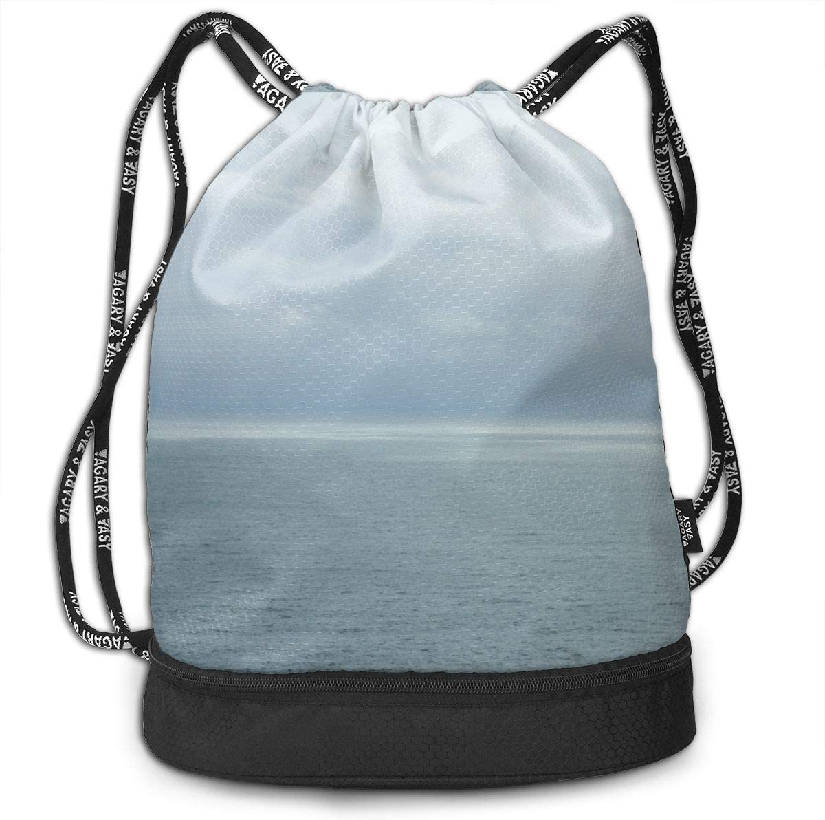 Marin County Drawstring Backpack Sports Athletic Gym Cinch Sack String Storage Bags for Hiking Travel Beach