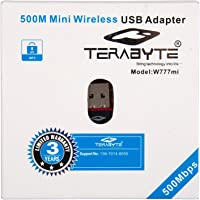 Terabyte Mini 2.4Ghz, 500Mbps Wireless WiFi Adapter(Black)