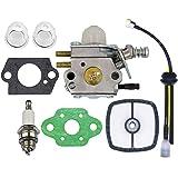 Echo Trimmer Carburetor - C1U-K29 C1U-K47 C1U-K52 SRM2100 SRM2110 SHC1700 SHC2100 with Repower Kit for Power Pruner Trimmer - Zama Carburetor Kit