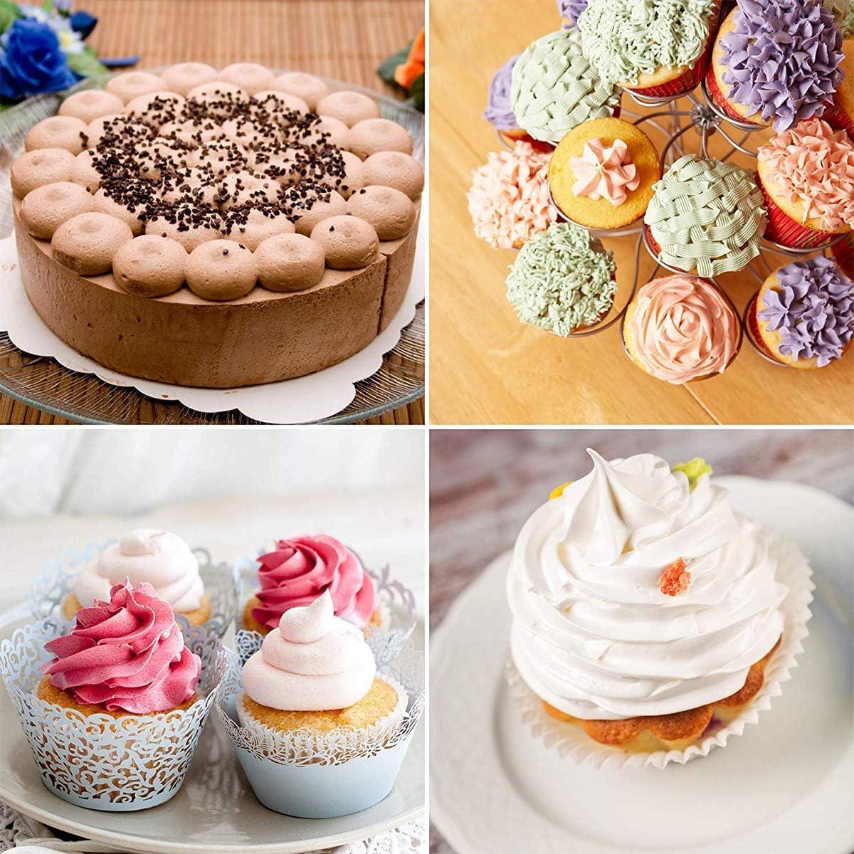 Lot de 24 douilles en acier inoxydable pour d/écoration de g/âteaux cupcakes