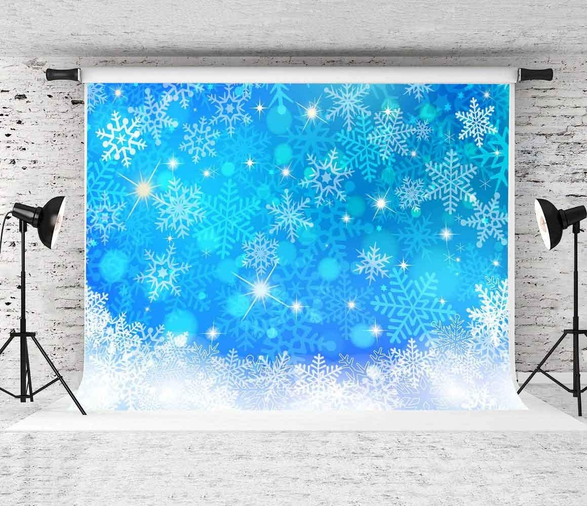 FLASIY 5x7FT Snowflake Backdrop Party Decoration Photography Backgrounds for Children Kids Party Studio Photo Video Props GEAY535