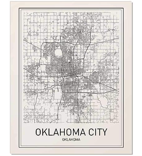 Amazon.com: Oklahoma City, Map of Oklahoma City, Oklahoma City ... on