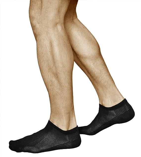 3 Pares de Calcetines Cortos para Hombre de BAMBÚ, Muy Transpirables con Efecto de Enfriamiento, Vitsocks Sneaker, 42-43, negro: Amazon.es: Ropa y ...