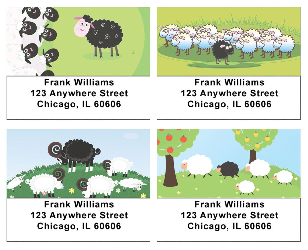 Black Sheep Address Labels