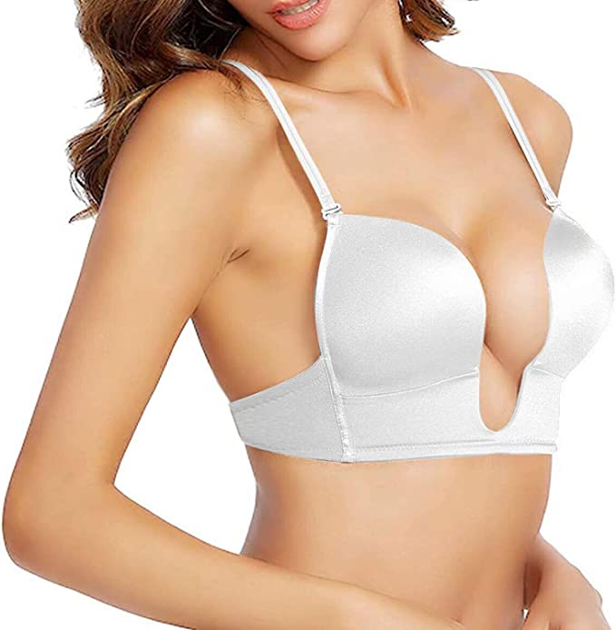 Strapless Wireless Nursing Bra w//Removable Clear Straps