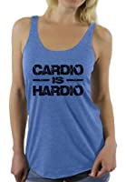 Awkward Styles Women's Cardio Is Hardio Racerback Tank Tops Black Lightning GYM