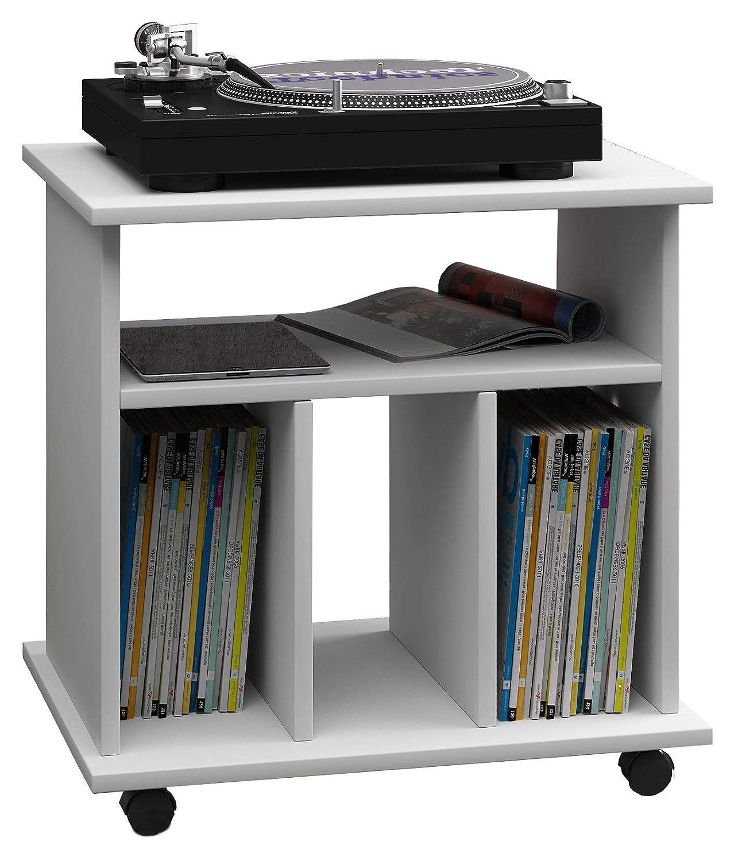 VCM Zuntisa Estante Mural para colección de CDs y DVDs, Roble, 59x60x45 cm
