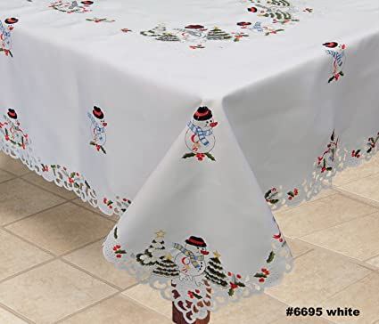 Admirable Amazon Com Creative Linens Holiday Embroidered Snowman And Interior Design Ideas Oxytryabchikinfo
