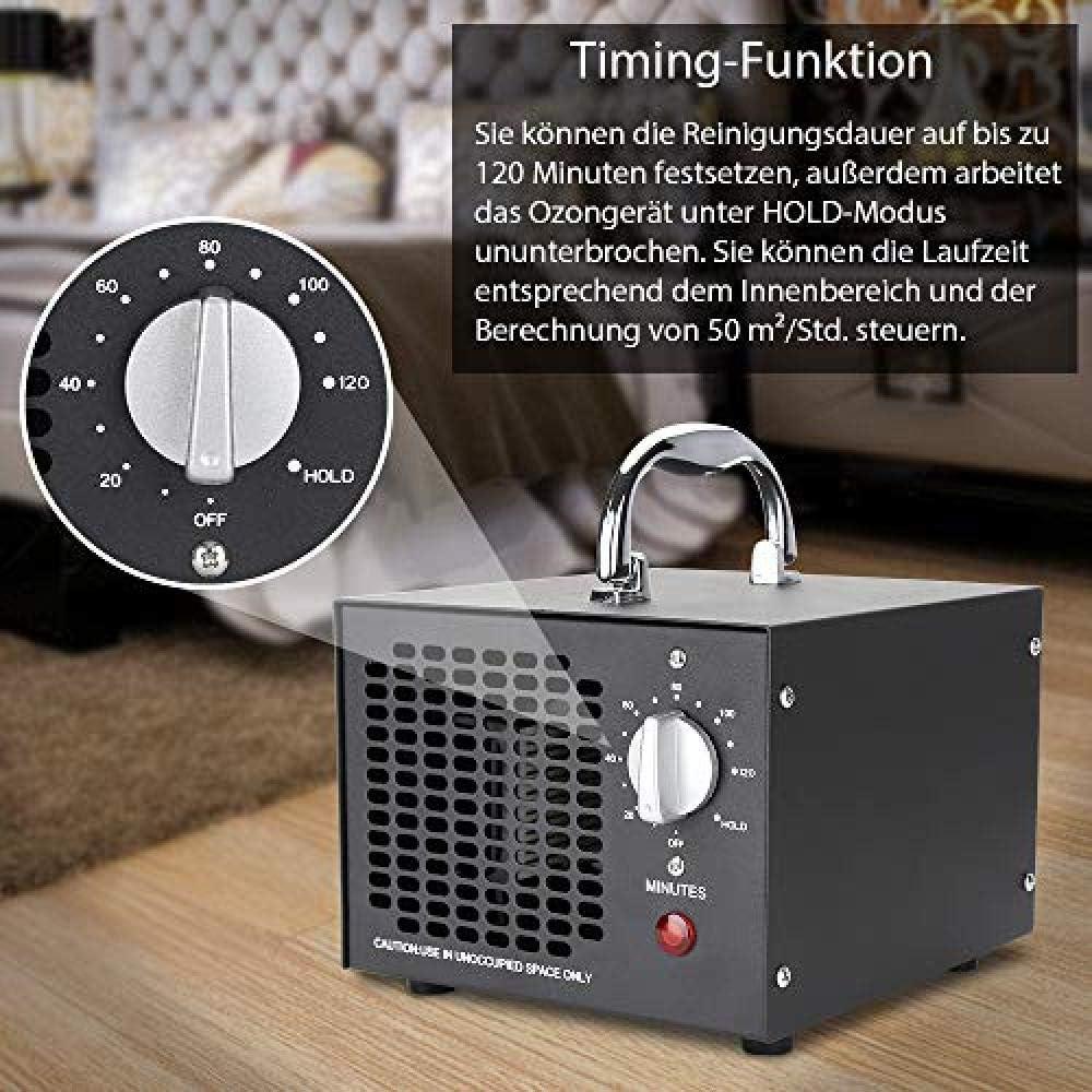 YQYW Generador de ozono 5,000mg h purificador de Aire de ozono con Temporizador 65W Dispositivo de ozono ozonizador para autom/óviles de habitaci/ón Mascotas Humo