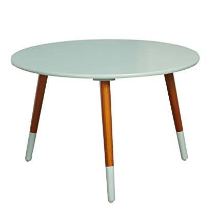 Pleasant Target Marketing Systems Livia Collection Ultra Modern Round Coffee Table With Splayed Leg Finish Mint Wood Inzonedesignstudio Interior Chair Design Inzonedesignstudiocom