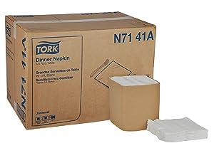 Tork Universal N7141A Dinner Napkin, 1-Ply, 1/4 Fold, 17