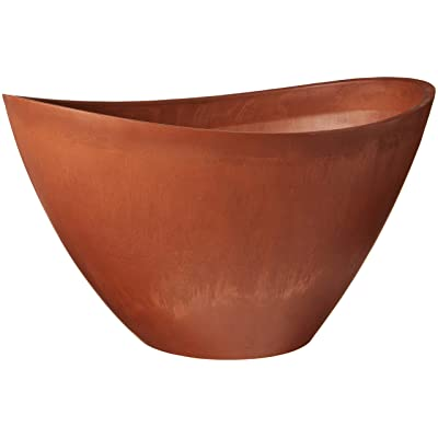 Arcadia Garden Products PSW YB58TC Swoop Pot, 22 by 16 by 13-Inch, Terra Cotta : Planters : Garden & Outdoor