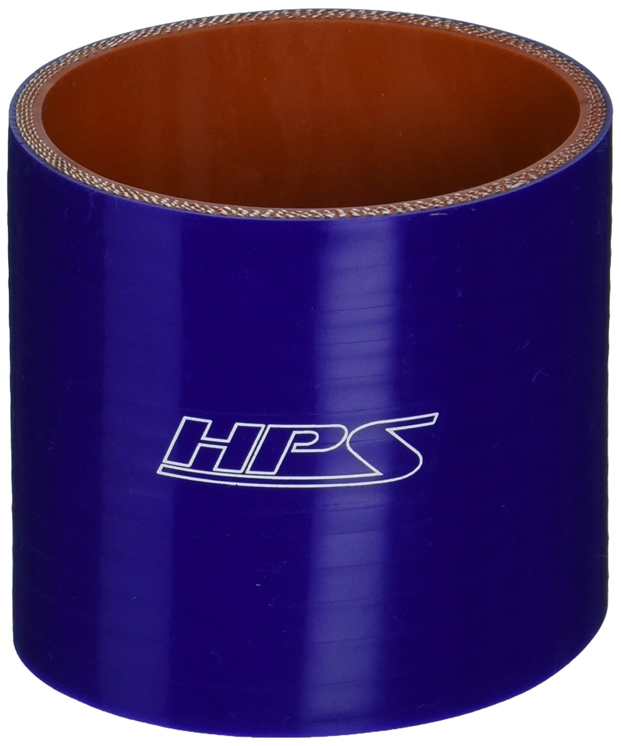 HPS HTSC-275-BLUE Silicone High Temperature 4-ply Reinforced Straight Coupler Hose, 75 PSI Maximum Pressure, 3' Length, 2-3/4' ID, Blue 3 Length 2-3/4 ID HPS Silicone Hoses