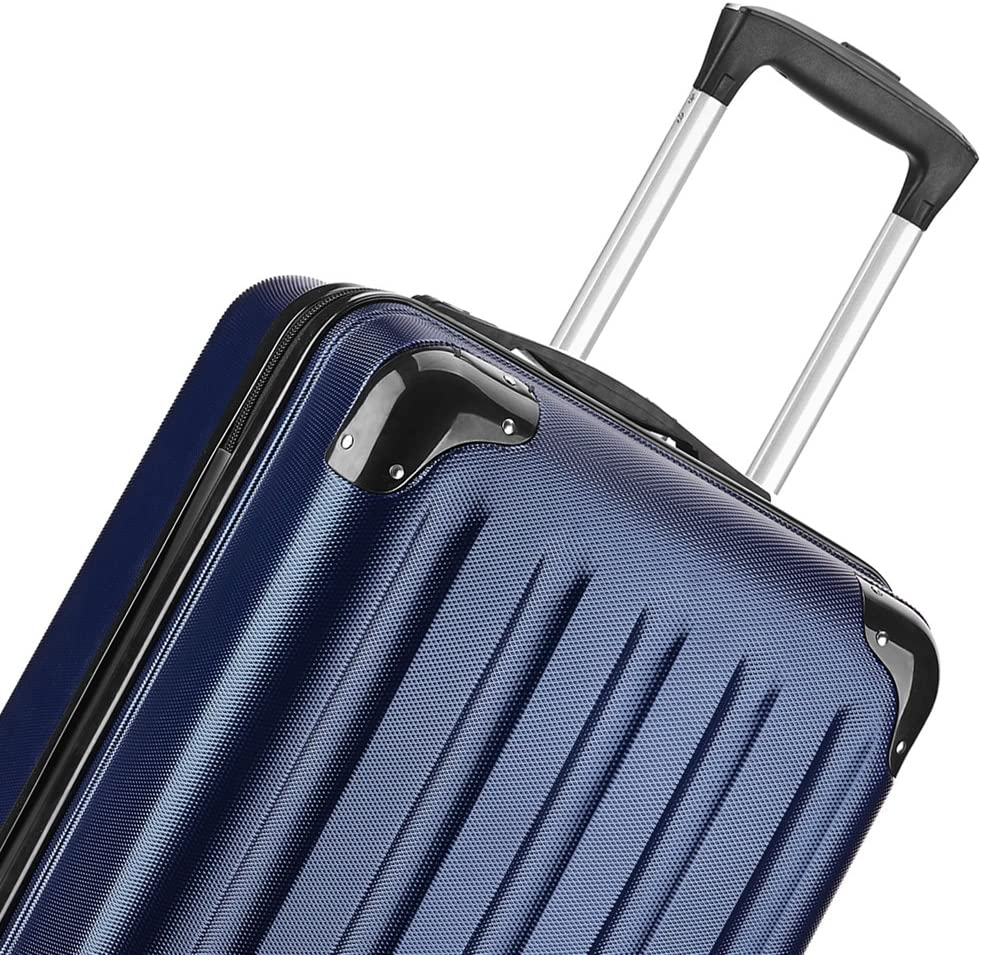 Blue Valise cabine taille 55cm Trolley ABS ultra leger 4 roues 6 couleurs 40L