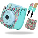 Katia Camera Case pour Fujifilm Instax Mini 9 Appareil photo instantané - Bohême, aussi pour Fujifilm INSTAX Mini 8 Appareil photo instantané, avec une poche de film