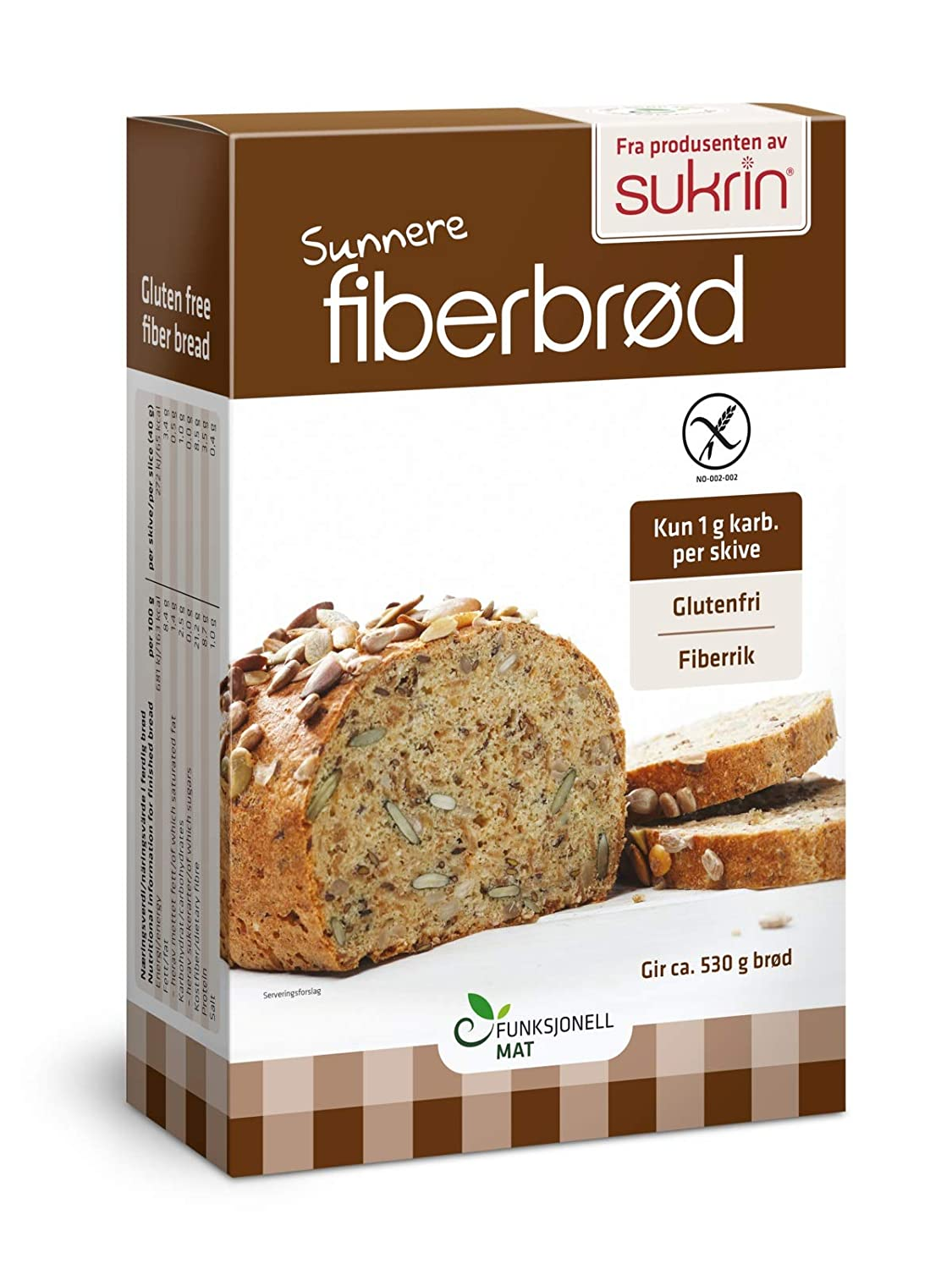 Sukrin Sunflower and Pumpkin Seed Low Carb Free-From Bread Mix. Low Fat, Low Calorie, Dairy, Yeast, Soya, Sugar, Wheat and Gluten Free, Great Taste! ...
