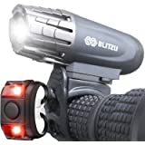 BLITZU Gator 320 USB Rechargeable Bike Light Set Super Bright Front Headlight and Back LED Rear Bicycle Light for Kids…