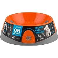 Oh Bowl Fresh-Breath Dog Bowl, Orange, Small