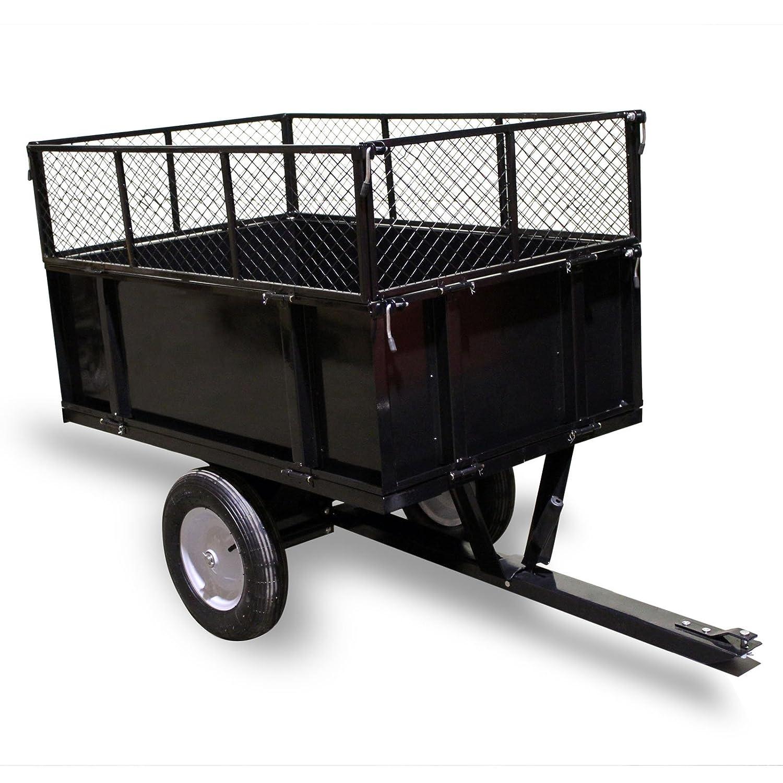 Kippanhänger 114x76x30cm mit Gitter und abnehmbaren Seitenwänden universelle Anhängerverbindung