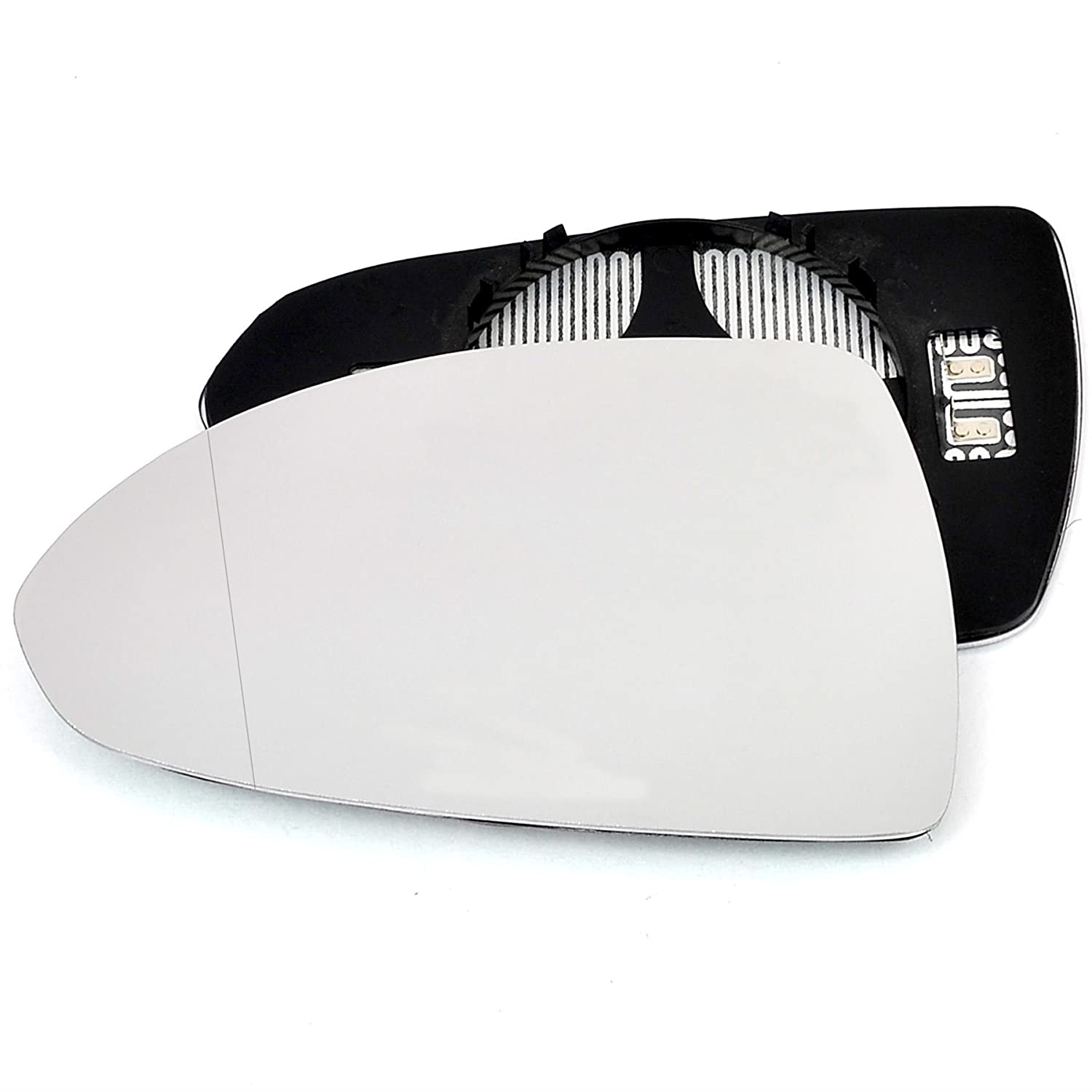Passenger left hand side Heated wing door Silver mirror glass with backing plate #W-SHY//L-OLCAE14 Clip On