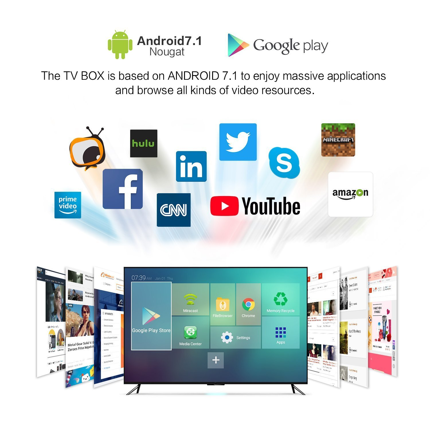 2018 Latest Acemax Amlogic Quad Core Android 71 Tv Box Original Acemaxs 64bit Processor 3d 4k H265 The Future Of Television 2gb 16gb Makes Your A Smart
