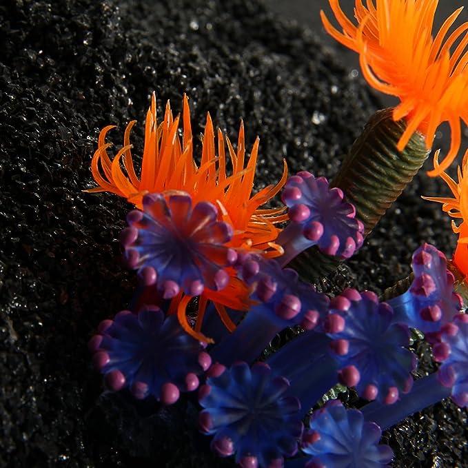 FACILLA®Coral Artificial Resina Azul Naranja Decoración para Acuario Pecera: Amazon.es: Hogar