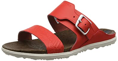 Merrell Around Town Thong Buckle Print, Sandales Bout Ouvert Femme, (Firey Red), 38 EU