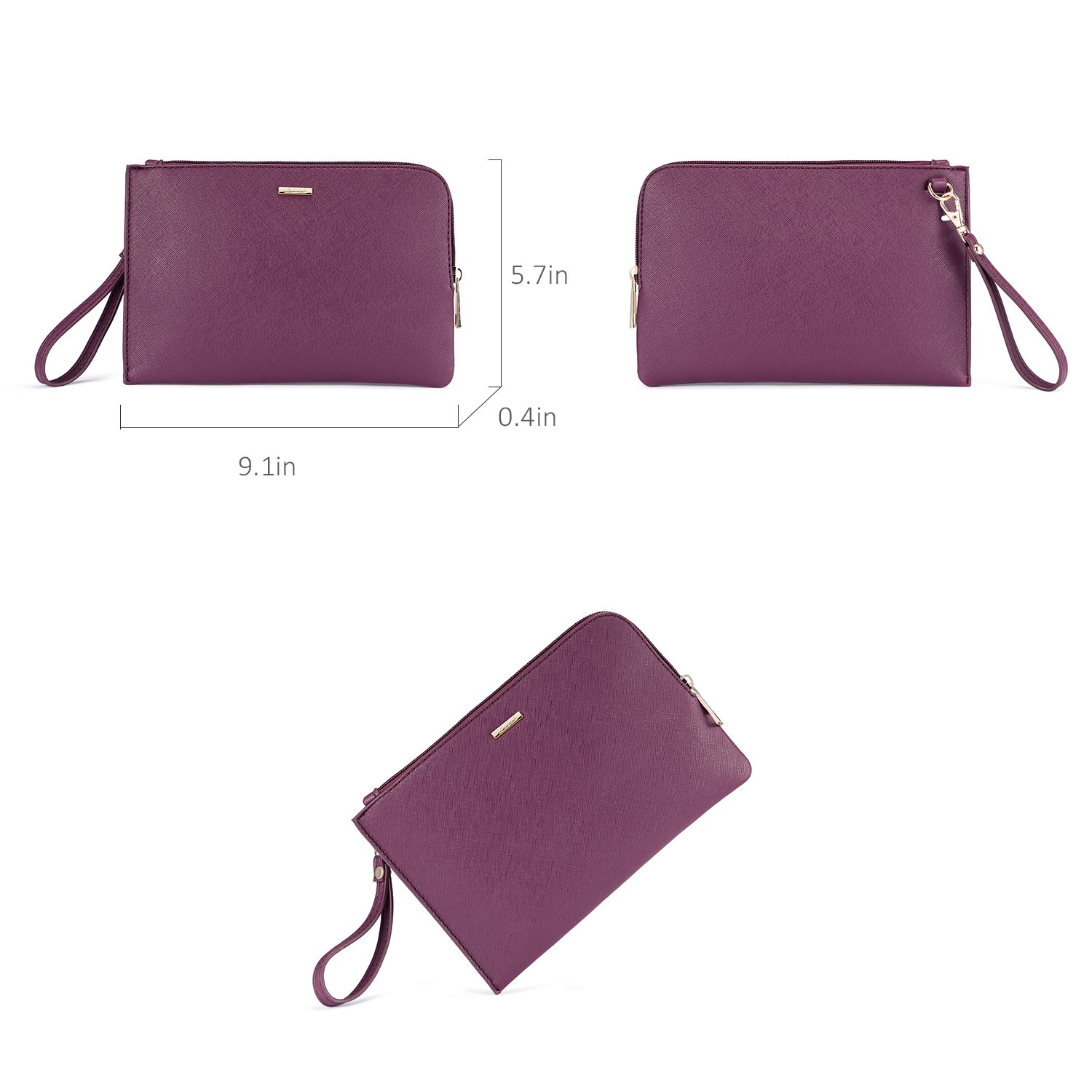 LOVEVOOK Women Purses and Handbags Chic Crossbody Bag Hobo 3pcs Large Capacity Purple by LOVEVOOK (Image #6)