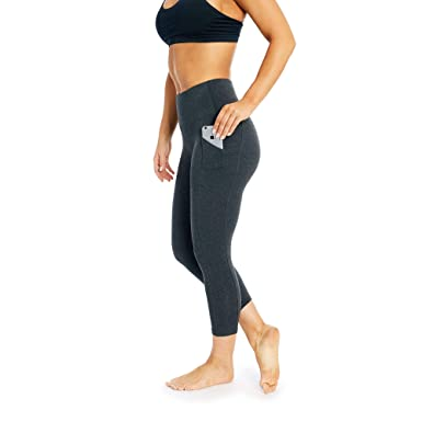 """9a8613bccec63 Marika HIGH Rise Tummy Control Legging with Pocket 22'' Heather Charcoal -  22"""""""