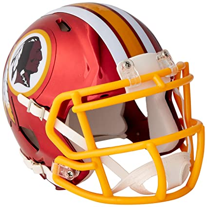 30e84350c0028 Riddell - Casco Chapado en Cromo Alternativo NFL Speed Autentico de tamaño  Completo Washington Redskins