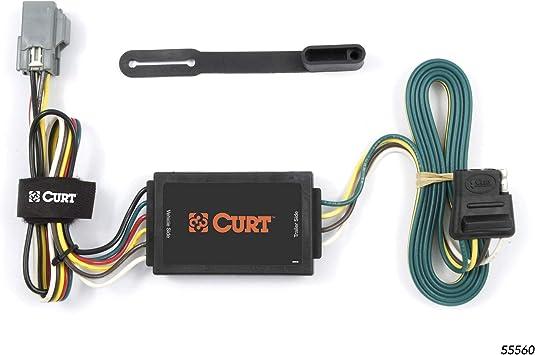 Amazon.com: CURT 55560 Vehicle-Side Custom 4-Pin Trailer Wiring Harness for  Select Chevrolet Equinox, Pontiac Torrent: Automotive   2015 Chevy Equinox Wiring Harness For Trailer      Amazon.com