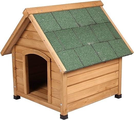 ELIGHTRY Caseta para Perros Madera Resistente Casa Jaula Perros Madera Jaula para Perros Gatos Animales pequeños para Jardin Impermeable 72 x 76 x 76cm YDMGL0002: Amazon.es: Productos para mascotas