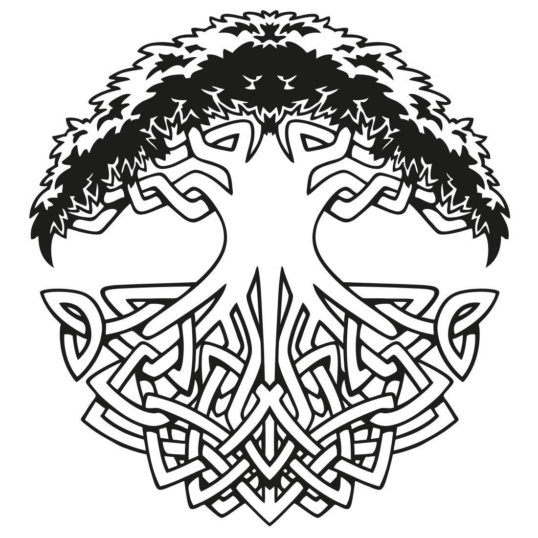 Vida de pared árbol celta