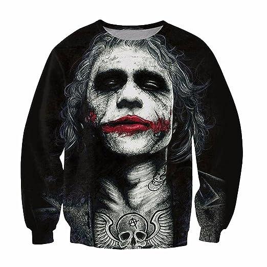 Amazoncom Parakeet Heath Ledger Joker Tattoo Sweatshirt