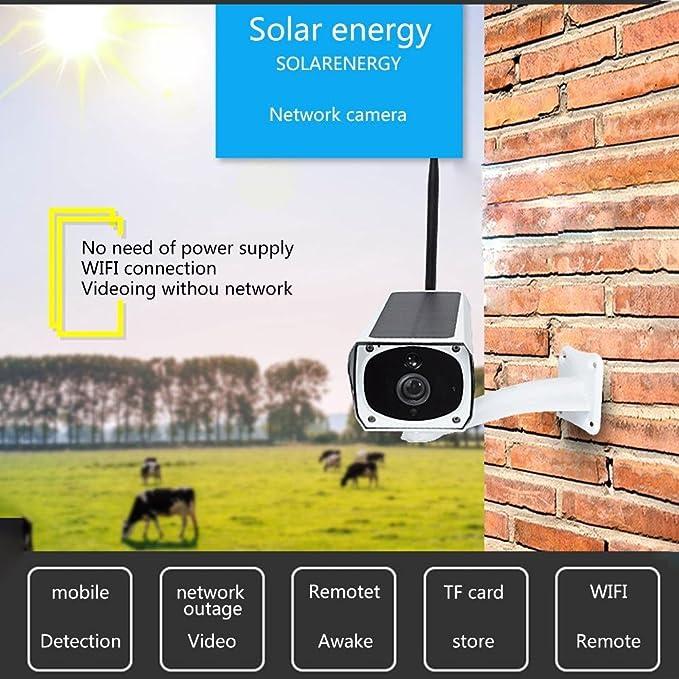 iBelly [Carga Solar] Cámara de vigilancia para el hogar, cámara de vigilancia inalámbrica WiFi Red teléfono móvil monitoreo Remoto y observación, ...