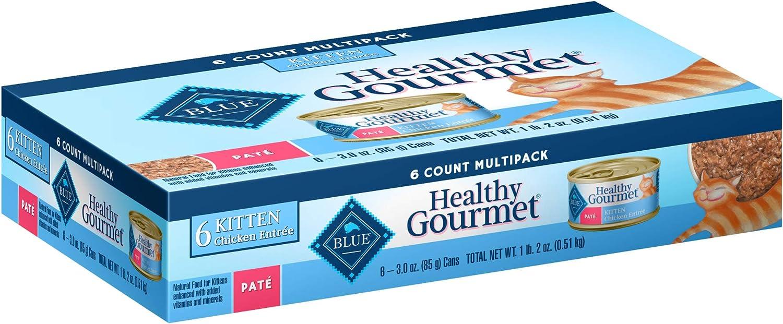 Blue Buffalo Blue Healthy Gourmet Kitten Multipack Cat Food, 3 oz., Case of 6