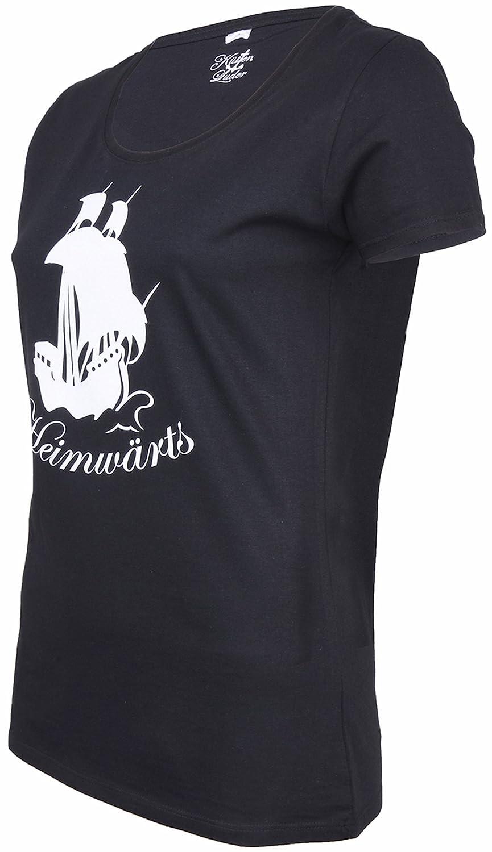Küstenluder Damen Oberteil Heimwärts Rockabilly Shirt: Amazon.de: Bekleidung