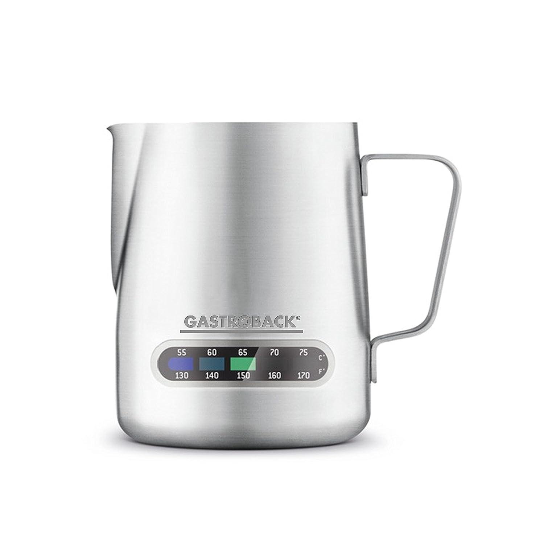 Milchschaumkännchen mit Temperaturanzeige für die Espressomaschine Gastroback 42612 S Design Espresso Advanced Pro GS