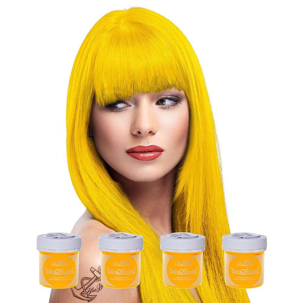 4 x La Riche Directions Semi-Permanent Hair Colour Dye Box Of Four-Bright Daffodil by La Riche ALR_2C_x4
